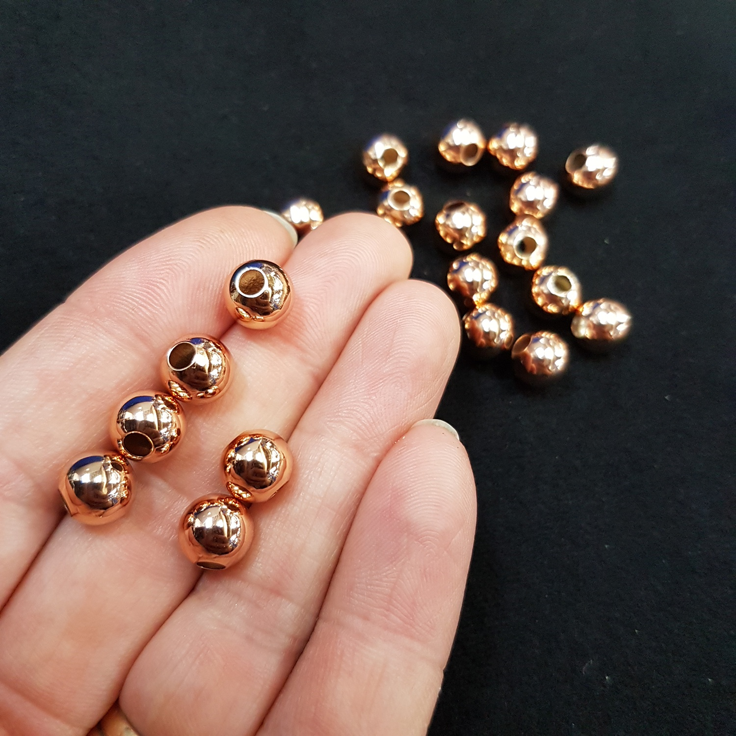 20 Pcs X 8mm Tarnish Resistant Big Mouth Spacer Rose Gold Findings Spacers Tarnish Resistant Chain And Findings Findings 20 Pcs X 8mm Tarnish Resistant Big Mouth Spacer Rose Gold