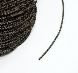 3mm Charcoal Braided BOLO Leather Cord #1111