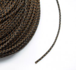 4mm Dark Brown Braided BOLO Leather Cord #1113