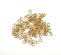 4mm Tarnish Resistant Jump Rings - Gold