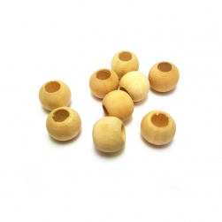 20pc Round Natural Wooden Beads #1594