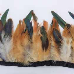 Natural Rooster Feather Trim - #369